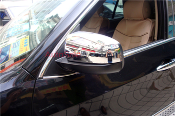 ABS Chrome Car Side Mirror Rearview Cover Trims 2pcs For BMW X6 E71 2009 2010 2012 2013 2014