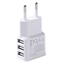 New 5V 2.0V EU Plug 3 Ports Universal USB Wall Travel Charger Adapter for iPhone 5s 6s 7 for Samsung S6 S7 Android Hot Sale