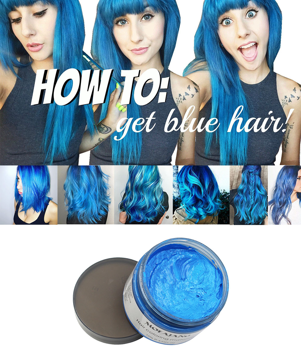 Blue hair wax1 3