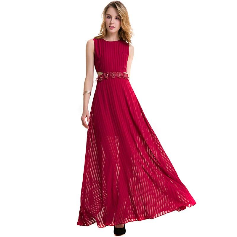 Hot femmes élégant une ligne robe Extra grande taille robes dentelle cheville longueur robes femmes été Vintage robe d'été sans manches Voile