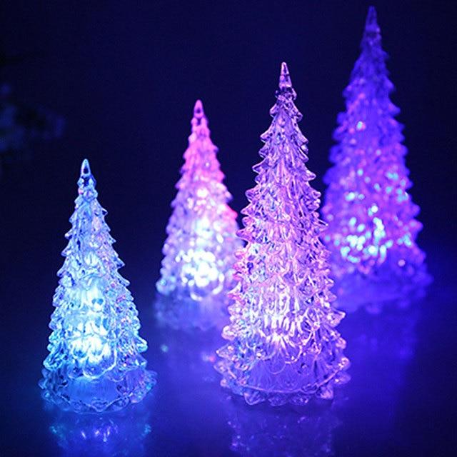 5 шт./компл. Красочный светодиодный акриловая елка ночник Рождественские украшения для дома свет подарок орнамент светящаяся башня Новый Год Прямая доставка