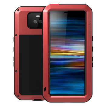 LOVEMEI Dirt-resistant Anti-knock Metal Aluminum Cases with Gorilla Glass for SONY Xperia 10 Plus Heavy Duty Protection Cases
