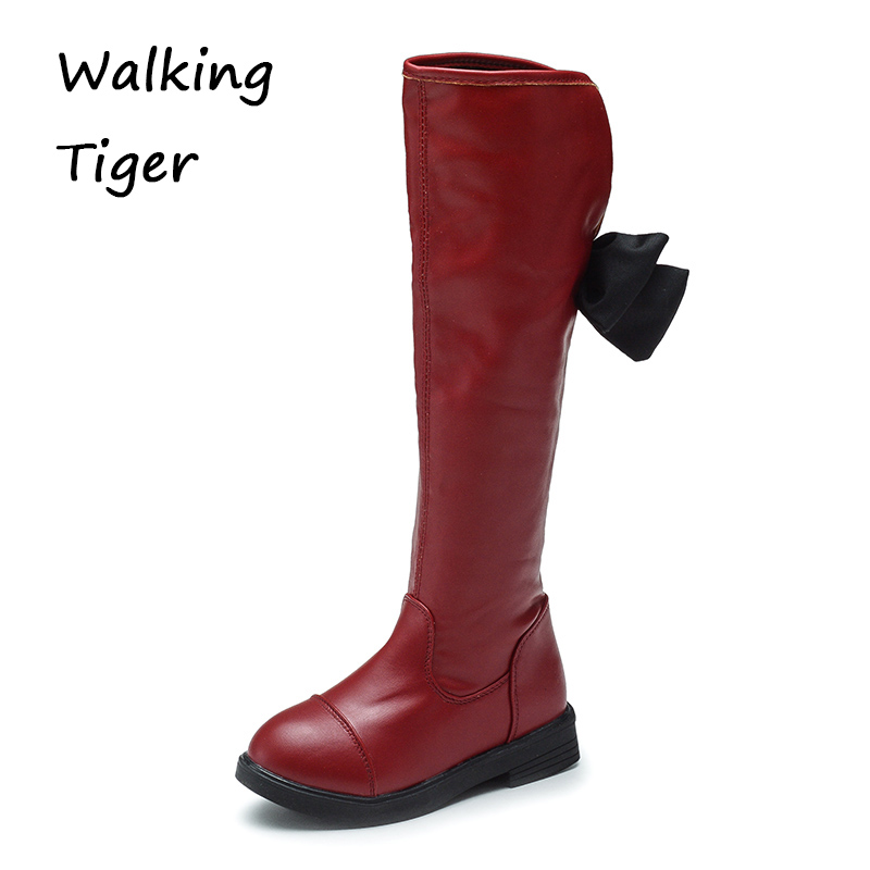 Kids boots for girls shoes knee high boots fashion 2017 cute baby girl winter shoe children boot girl winter shoes fashion girls baby girl boots snowflake 4 colors plush kids boots 29 35cm tall canister girl winter shoes