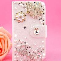 Butterfly Bow Flower Filp Leather Diamond Case For Samsung Galaxy J3 J5 J1 Ace J2 J7