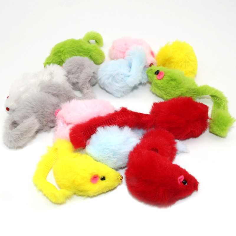Westrice Very Nice 3cm Funny False Mouse Rat Cat Toys Colorful Mini Playing Mouse Cat Toys Gift for Cats Kitten Free Shipping 50