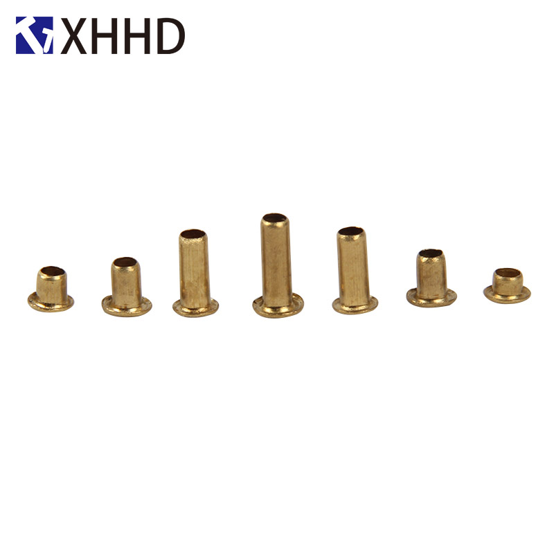 M2 5 M3 M4 M5 Brass Hollow Rivet Copper Chicken Eye Button Single Pipe With Brass Hole Rivet in Nuts from Home Improvement
