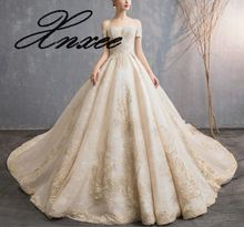 2019 ladies new lace elegant and long tail dress