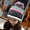 Thick Women's Fashion Winter Warm Beanie 100% Handmade Knitted Hat Cap