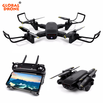Global drone Selfie Drone Professional Mini Pocket Foldable Folding Helicopter Quadcopter Wifi smartphone Control with HD camera Квадрокоптер