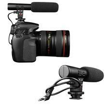 Новый профессиональный 3.5 мм MIC-01 Studio цифровой видео стерео записи микрофоны A58
