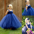 2016 5 Color New Girls Hot Pink White Royal Blue Pink Purple Flower Girl Dress Princess Girl Party Dress Girl