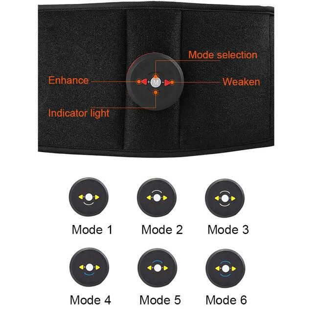 Vibration Sweat Belt Abdominal Muscle Toner EMS Electronic Stimulator Fitness Massager Waist Trimmer Support Slimming Body Home 4