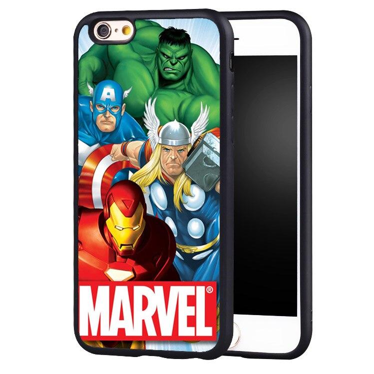 Marvel <font><b>Super</b></font> Hero SuperMan Batman The Hulk <font><b>SpiderMan</b></font> Printed Phone <font><b>Cases</b></font> <font><b>For</b></font> <font><b>iPhone</b></font> <font><b>6</b></font> 6S <font><b>Plus</b></font> SE 5 5S 5C 4 4S Back Shell Cover
