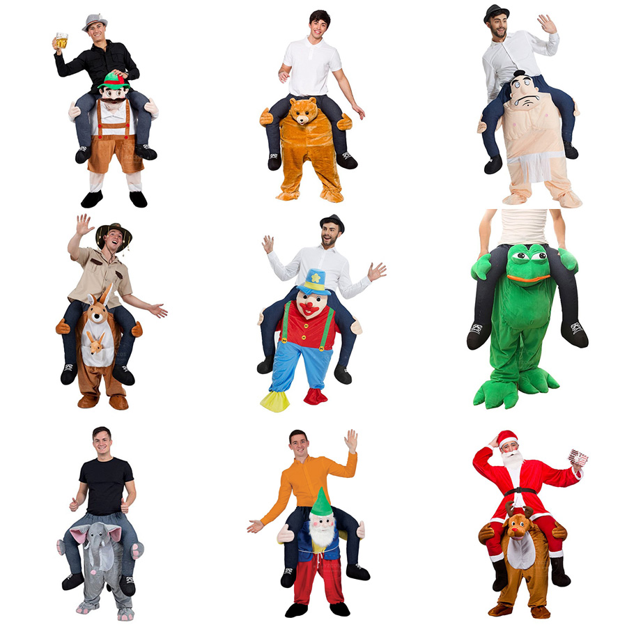 JYZCOS Adult Dress Up Ride on Me Costume Walking Mascot Costume Funny Pants Carry Back Novelty