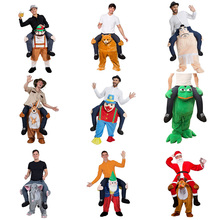 JYZCOS Adult Dress Up Ride on Me Costume Walking Mascot Costume Funny Pants Carry Back Novelty Toys Purim Halloween Costume