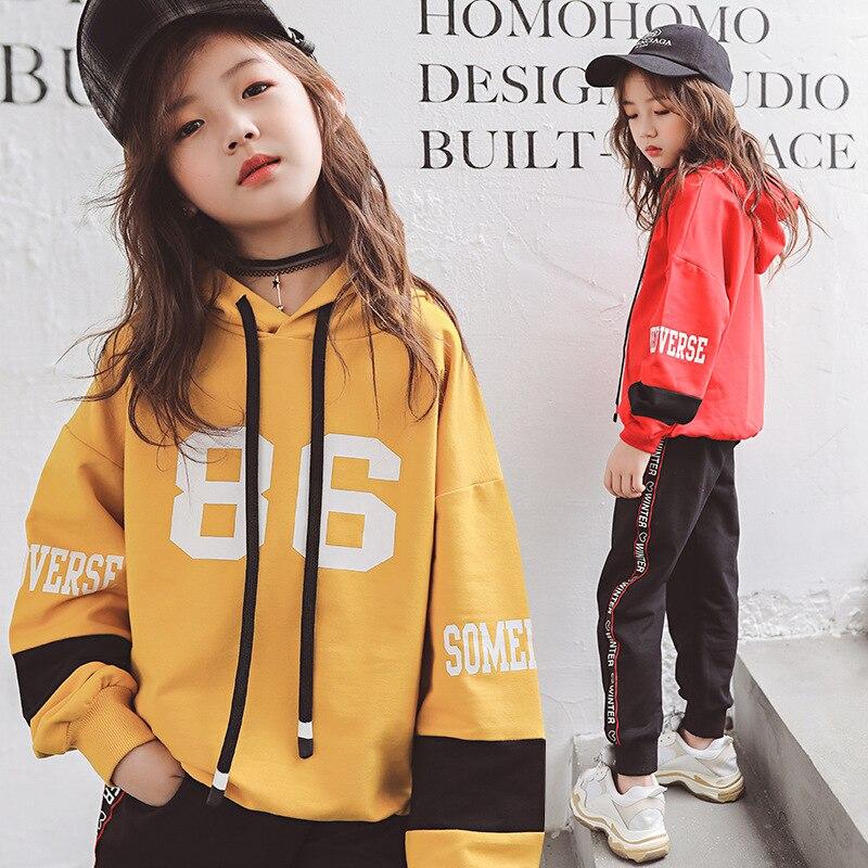 7528176aa Niñas Ropa conjunto de 10-12 años 2 piezas niños traje de Deportes de  primavera Otoño de 2019 nueva 14 15 años las niñas adolescentes prendas de  Vestir ...