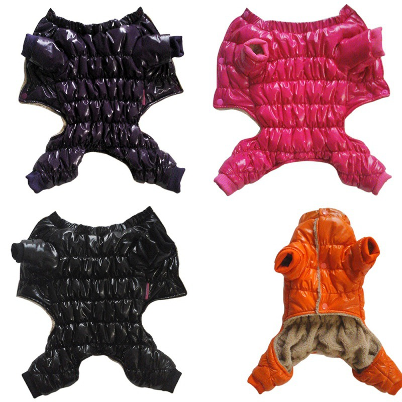 2017 Winter Waterproof Concise Pet Clothes Winter Dog Jumpsuit Rompers Coat For Small and