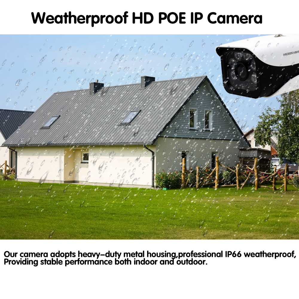 Image 3 - H.265 5MP 2592*1944 Surveillance CCTV System 48V PoE 4CH NVR Kit 4.0MP HD Bullet Waterproof indoor Outdoor CCTV Camera System-in Surveillance System from Security & Protection