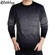 2017 thương hiệu xã hội cotton dày nam áo thun áo áo len casual móc gradient dệt kim áo len nam masculino jersey quần áo