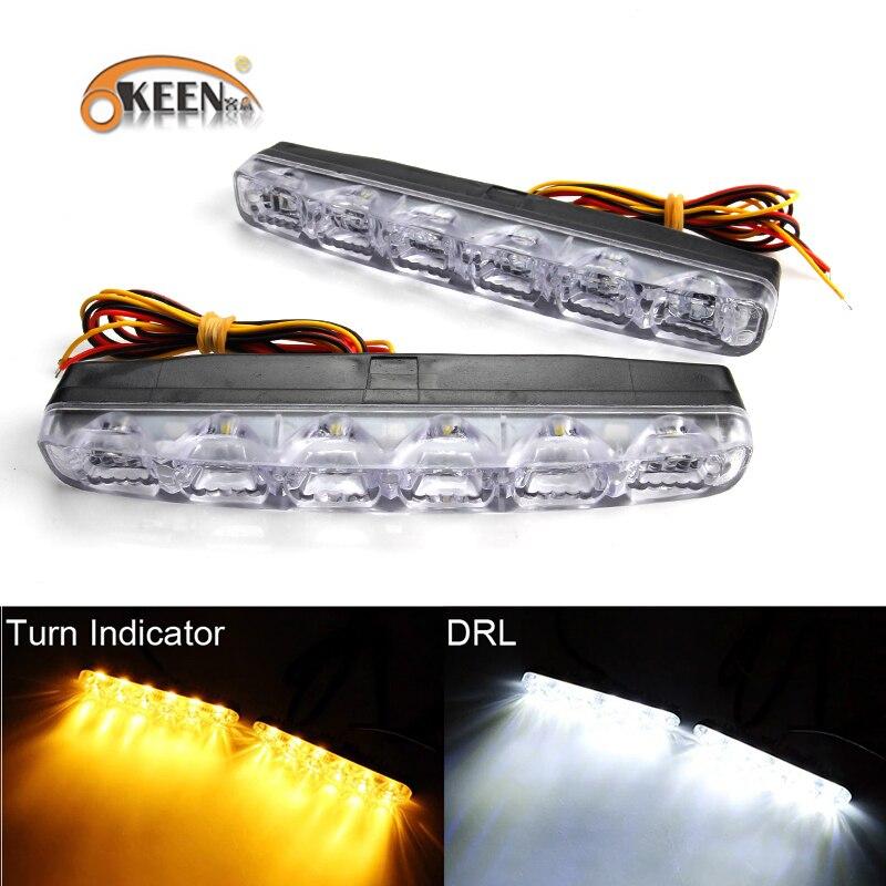 2 Pcs DC12V Super Bright White LED Car SUV Daytime Running Lights Fog Lamp