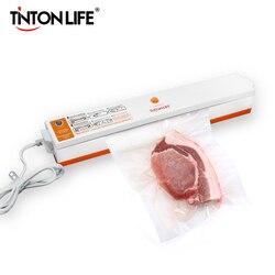 Бытовой пищевой вакуумный упаковщик TintonLife, 220В/110В, упаковочная машина для запечатывания пленкой, вакуумный упаковщик с 15 пакетами