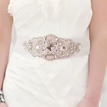 Европейский кружевной свадебный пояс со стразами пояс невесты свадебное платье Сияющий бриллиант Пояс аксессуары