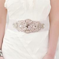 Europe lace wedding rhinestone belt girdle belt bride wedding dress flash diamond belt Belt Accessories