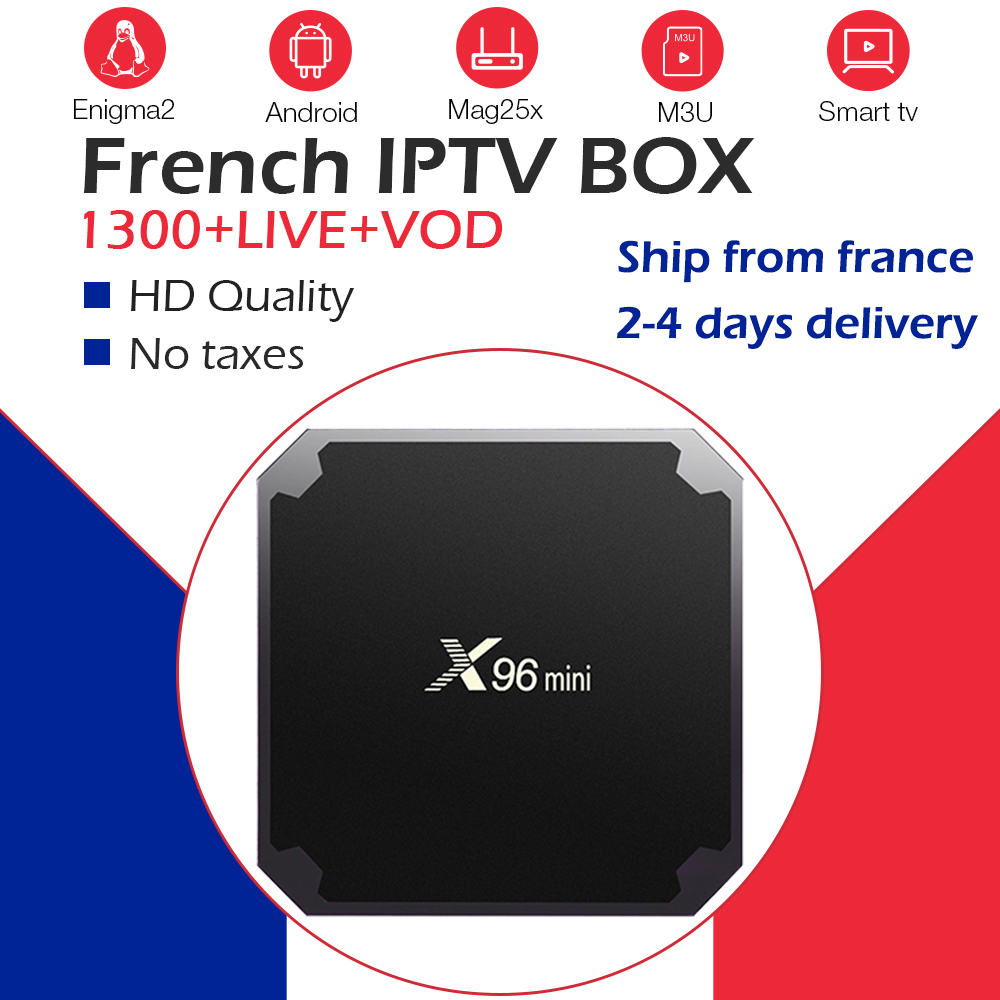 X96mini Android 9.0 Tv Box 16G ROM Smart Ip Tv Box 1300 Live Channel French Iptv Italy UK Spain Belgium Arabic Morocco Iptv Box