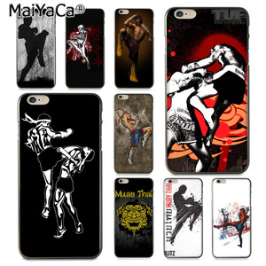 MaiYaCa Muay Thai Fight Boxing style Hot selling design Soft Case for iPhone 8 7 6 6S Plus X 10 5 5S SE 5C Coque Shell(China)