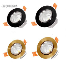 Dimmable LED Downlight 7W 10W 15W 20W Spot DownLights cob Recessed down lights for living room 110v 220v