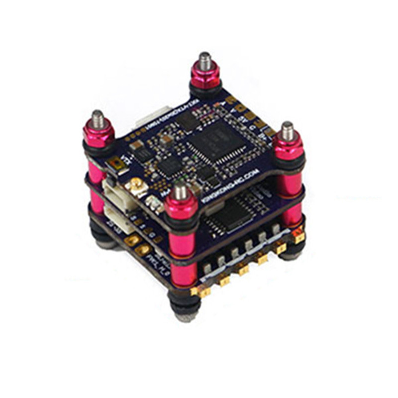 LDARC / Kingkong 20x20mm Flytower 12A BLheli_S 4 in 1 ESC & Omnibus F4 Flight Controller AIO OSD & 48CH 0/25/100/200mW VTX Parts upgrated flytower f4 pro flight controller board integrated osd 40a 4 in 1 w transmitter esc for fpv drone spare parts