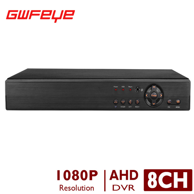 AHD-H GWFEYE Canal 8CH FULL HD 1080 P Apoio Gravador de Vídeo Vigilância CCTV AHD/Analógico/CVI/TVI/Câmeras IP P2P XMEYE