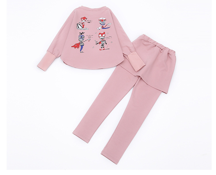 HTB1pY1eSFXXXXcHaXXXq6xXFXXX5 - 2017 Baby Clothing Set Autumn Baby Girls Clothes Long Sleeve T-Shirt+Pants 2Pcs Suits Cartoon Children Spring Solid 6-15T O-Neck