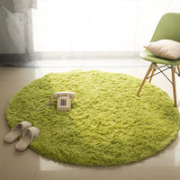 Diam 80cm 100cm Round Plush Carpet Anti Slip Kitchen Rugs Absorbent Bathroom Carpet Soft Yoga Mat