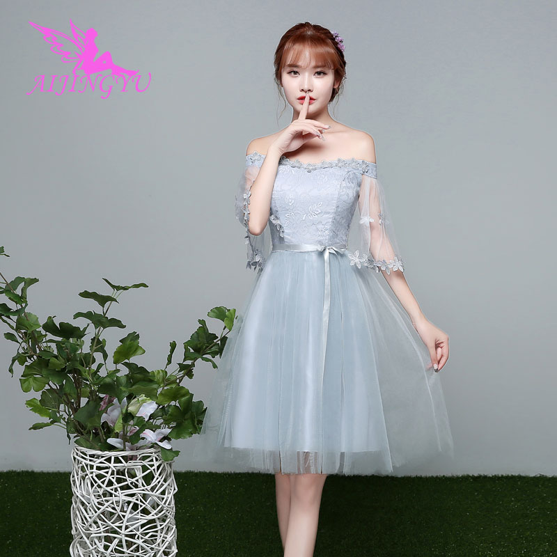 AIJINGYU 2018 girl sexy elegant dress women for wedding party bridesmaid dresses BN497