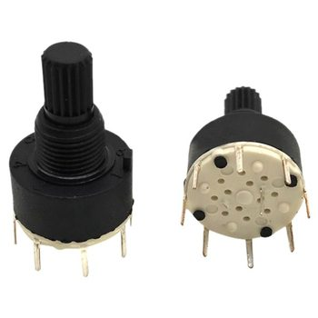 Brand New 1 pcs black plastic band switch SR16 switch 1 knife 5 stalls rotary switch 3.2*1.6*1.6cm image