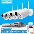 4CH Inicio Vigilancia 720 P HD 1280*720 H.264 Onvif Cámara de Seguridad Inalámbrica de Vídeo Kit Sistema de 1 TB HDD