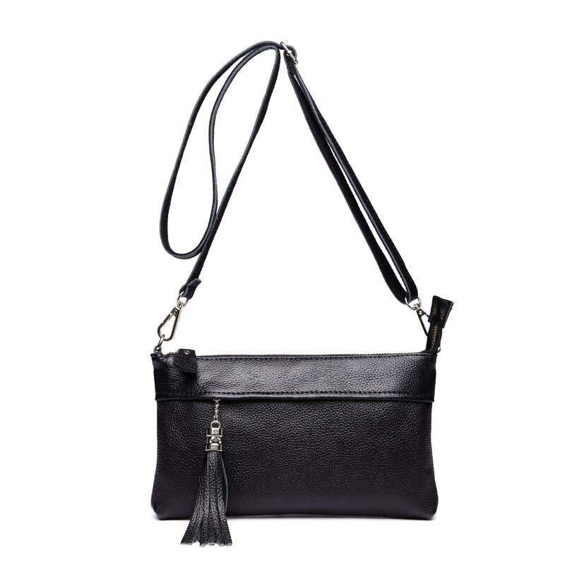 2018 Large clutch Women Genuine Leather Bag Female bolsos New Women Messenger Bags With Tassel Famous Designers Leather Handbags