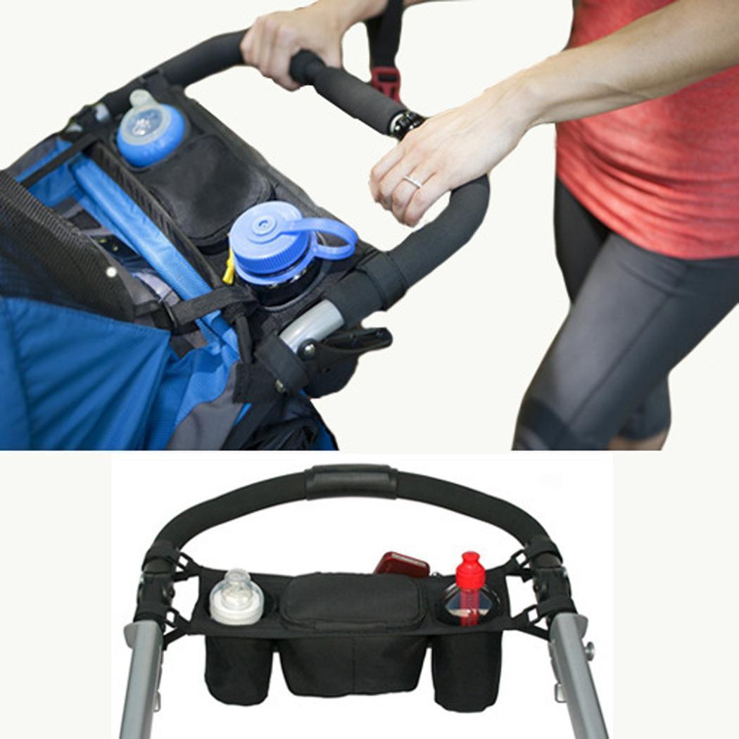 Stroller Organizer Buggy Handlebar-Bag Cup-Holder Bottle Wheelchair-Stroller-Handles