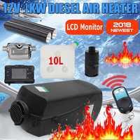 Calentador de aire diésel de 4KW 12V para camiones, barcos, caravana, autobús-para reemplazar Eberspacher D4, calentador de estacionamiento Webastos + Remoto + silenciador