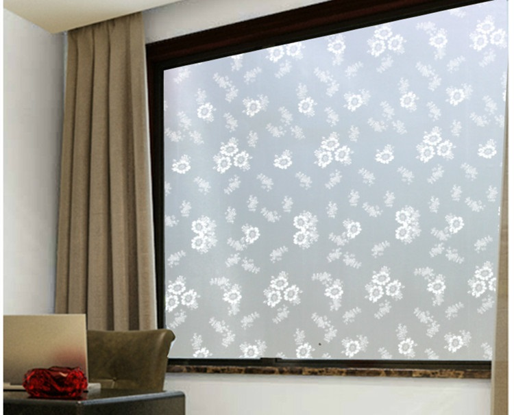 PVC Waterproof Window Film Glass Sticker Home Bedroom Bathroom Privacy Frosted Frost Cover 60/75/85x200cm Hot image