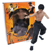 Bruce Lee Figure Toys Kong Fu Master Bruce Lee Vinyl Collectible Model Toy 3 Types 33cm(China)