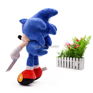 Image 3 - 20 pcs/lot Sonic Soft Doll Blue Sonic Cartoon Animal Stuffed Plush Toys Figure Dolls Halloween Christmas Gift For Children