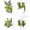 4 em 1 diy blocos de construção eletrônica diy robô transformável brinquedos para meninos presente