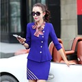 New Fashion Formal Skirt Suits Hot Sale Plus Size Office Ladies Elegant Skirt Suits High quality Casual OL Workwear Women's Sets
