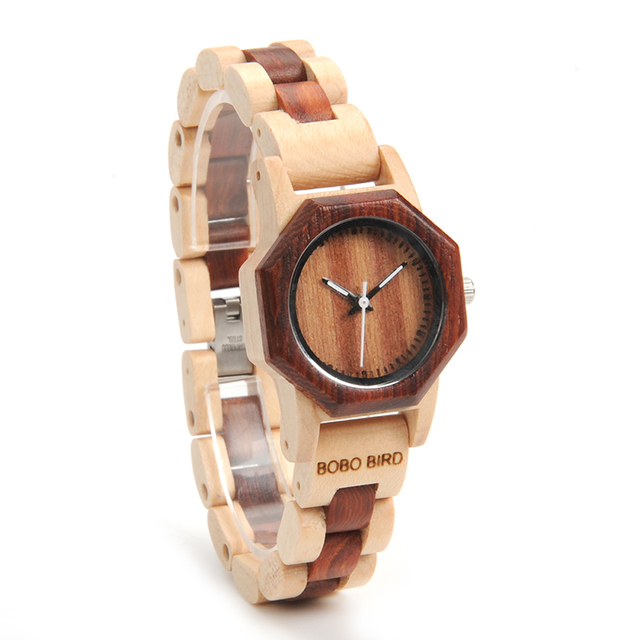 BOBO BIRD Octagon Ladies Wooden Watches LM25 Top Brand Luxury Hours Women Kol in Gift Box as Valentine's Day Gift 5