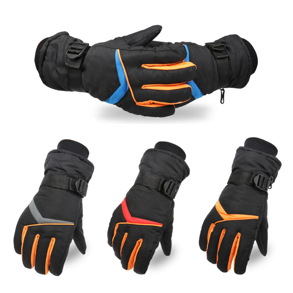 Cycling Bicycle Gloves Winter Thickened Warm Waterproof Gloves Wear-resistant Outdoor Riding Skiing Gloves For Outdoor Sports
