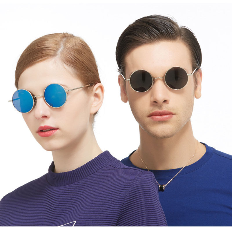 9240503014 VEGA Polarized 80s 90s Retro Round Glasses Men Women Metal Round Sunglasses  Vintage Small Hippie Glasses Circle Lenses 8024-in Sunglasses from Apparel  ...