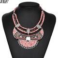 4 colores rosa lindo cereza choker collar étnico bohemio tejida babero collar y colgantes romántica joyería collier mujeres juran