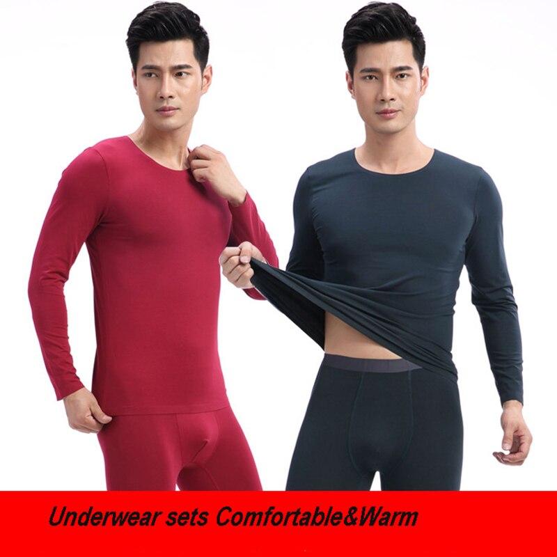 d180f0869 Nueva ropa interior térmica para hombre Calzoncillos largos hombres Otoño  Invierno camisa más ...